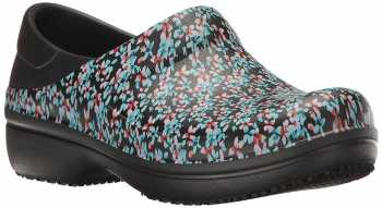 Crocs CRNERIA0J2 Women's, Black/Multi Color, Soft Toe, Slip Resistant Clog