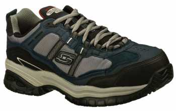 SKECHERS Work SK77013NVGY Grinnell Men's, Navy/Grey, Comp Toe, EH, Low Athletic
