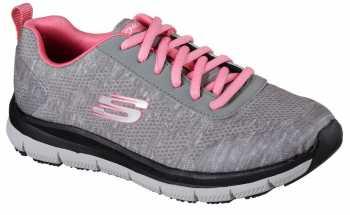 SKECHERS Work Work SK77217GYPK Gray/Pink Comfort Flex Pro HC Soft Toe, Slip Resistant Women's Athletic