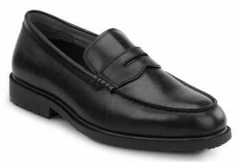 SR Max SRM3010 Burlington, Men's, Black, Penny Loafer Style Soft Toe Slip Resistant Work Shoe