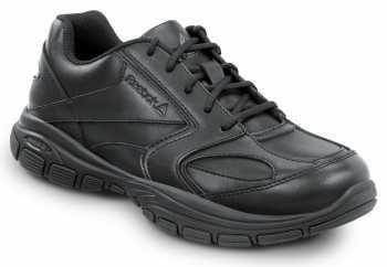Reebok SRB1020 Senexis, Black, Men's Athletic Style Slip Resistant Soft Toe Work Shoe
