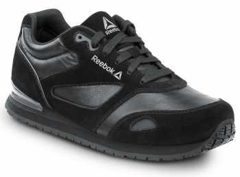 Reebok SRB1977 Prelaris, Black, Men's Jogger Style Slip Resistant Soft Toe Work Shoe