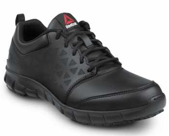 Reebok SRB3206 Sublite Cushion Work, Black, Men's, Athletic Style Slip Resistant Composite Toe, EH, Work Shoe