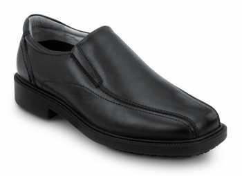 SR Max SRM3080 Brooklyn, Men's, Black, Twin Gore Dress Style Soft Toe Slip Resistant Work Shoe