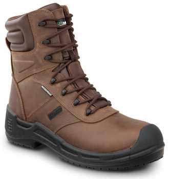SR Max SRM9960 Logan, Men's, Brown, Comp Toe, EH, Waterproof, Insulated, Slip Resistant 8 Inch Work Boot