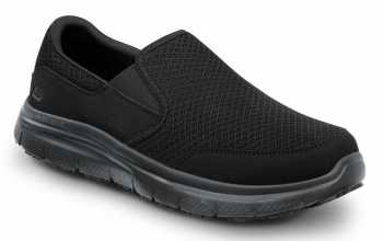 SKECHERS Work SSK8175BLK Ella Women's Black, Soft Toe, MaxTrax Slip Resistant, Slip-on Athletic