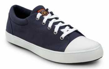 SKECHERS Work SSK9740NVW Patrick Navy/White, Men's, Soft Toe, Slip Resistant Skate Shoe