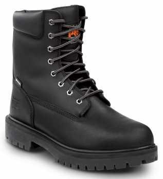 Timberland PRO STMA1WDU Men's Direct Attach, Black, Steel Toe, EH, Slip Resistant, WP, 8 Inch